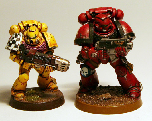 Regular scale and Artscale Space Marine