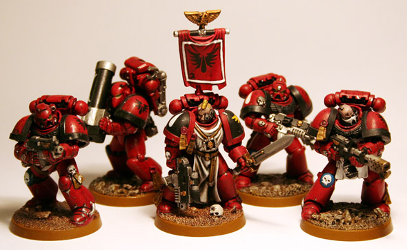 Artscale Blood Angel combat squad