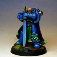 Painted Truescale Space Marines